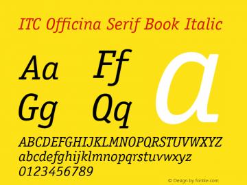 ITC Officina Serif Book
