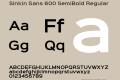 Sinkin Sans 600 SemiBold