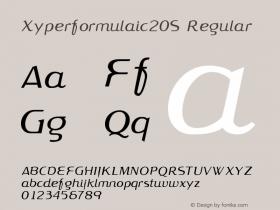 Xyperformulaic Serif