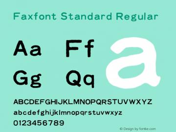 Faxfont Standard