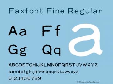 Faxfont Fine