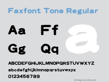 Faxfont Tone