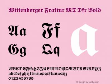 Wittenberger Fraktur MT Dfr