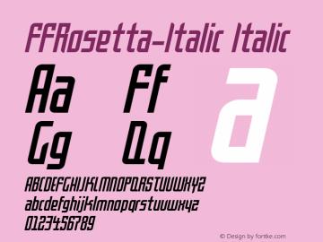 FFRosetta-Italic