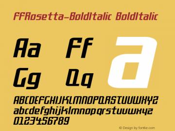FFRosetta-BoldItalic