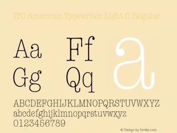 ITC American Typewriter Light C