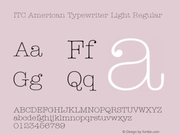 ITC American Typewriter Light