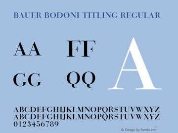 Bauer Bodoni Titling