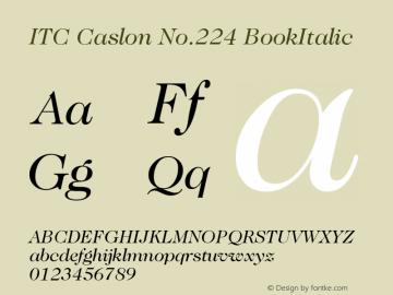 ITC Caslon No.224