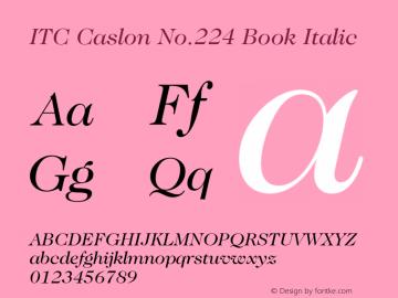 ITC Caslon No.224 Book