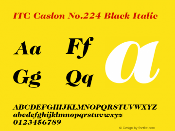 ITC Caslon No.224 Black