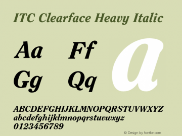 ITC Clearface Heavy