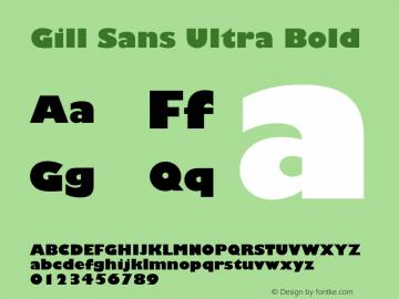 Gill Sans Ultra
