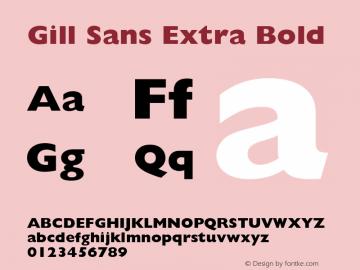 Gill Sans Extra