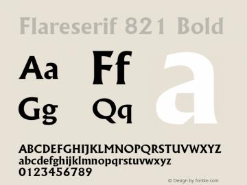 Flareserif 821