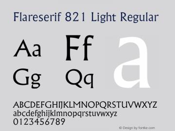 Flareserif 821 Light