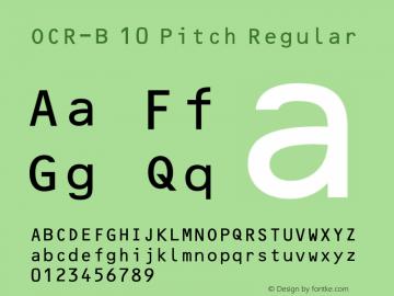 OCR-B 10 Pitch