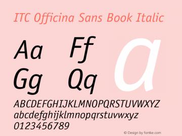 ITC Officina Sans Book