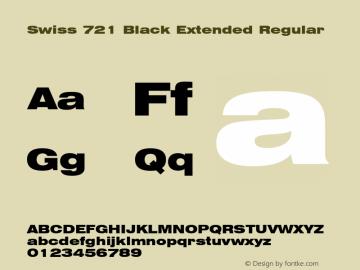 Swiss 721 Black Extended