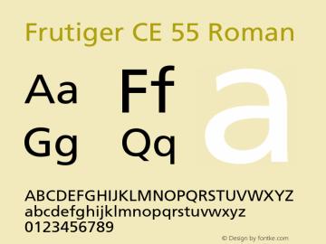 Frutiger CE 55