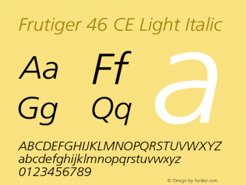 Frutiger 46 CE Light