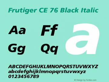 Frutiger CE 76 Black