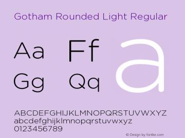 Gotham Rounded Light