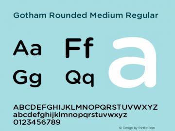Gotham Rounded Medium