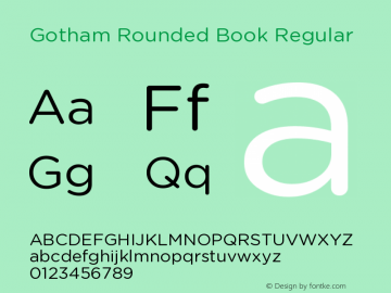 Gotham Rounded Book