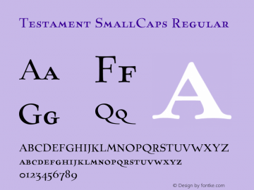 Testament SmallCaps