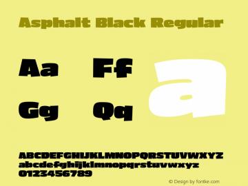 Asphalt Black