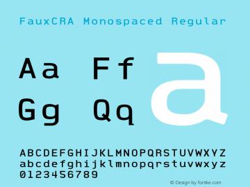 FauxCRA Monospaced
