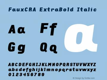 FauxCRA ExtraBold