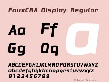 FauxCRA Display