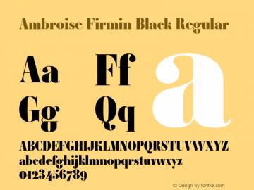 Ambroise Firmin Black