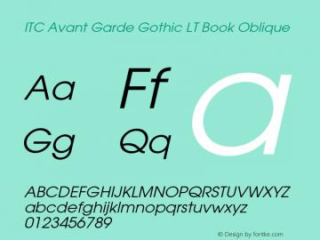 ITC Avant Garde Gothic LT Book