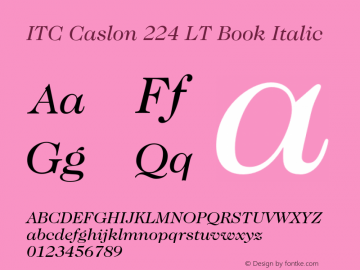 ITC Caslon 224 LT Book