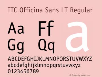 ITC Officina Sans LT