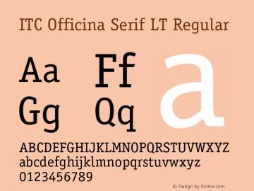 ITC Officina Serif LT