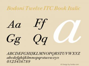 Bodoni Twelve ITC Book