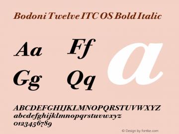 Bodoni Twelve ITC OS