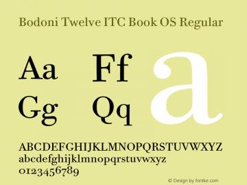 Bodoni Twelve ITC Book OS