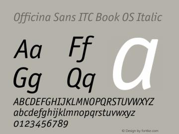 Officina Sans ITC Book OS