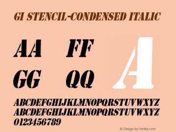 GI Stencil-Condensed