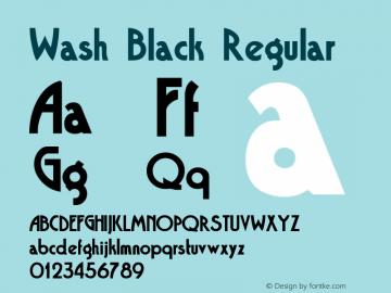 Wash Black