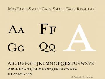 Mrs Eaves Small Caps OT-Font Family Search-Fontke com For Mobile