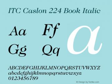 ITC Caslon 224 Book
