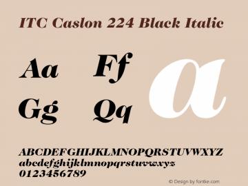 ITC Caslon 224 Black