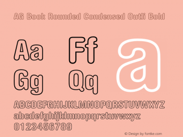 AG Book Rounded Condensed Outli