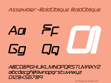Assembler-BoldOblique
